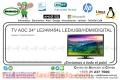 "TV AOC 24"" LE24W454L LED/USB HDMI/DIGITAL"
