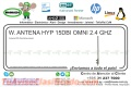 W. ANTENA HYP 15DBI OMNI 2.4 GHZ