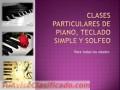Clases particulares de piano, organo y solfeo