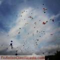 Globos con helio para despedir a tu ser querido