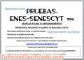 PRUEBAS ENES SENESCYT 2014