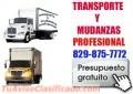 Transporte y mudanza profesional  ,