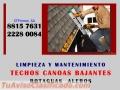 MANTENIMIENTO Y LIMPIEZA DE CANOAS, TECHOS, BAJANTES, ALEROS, BOTAGUAS en Costa Rica