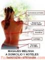 Melissa Masajista a Domicilio y Hoteles. 949572299