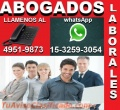 ABOGADOS LABORALES EN CAPITAL, CONSULTAS GRATIS, DESPIDOS, ACCIDENTES, TEL 49519873