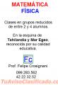 Clases Particulares de MATEMATICA y FISICA 099.283.562 Maldonado Punta del Este