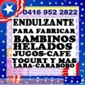 ENDULZANTE AZUCAR JUGOS 04169522822 CAFÉ HELADOS YOGURT BAMBINOS