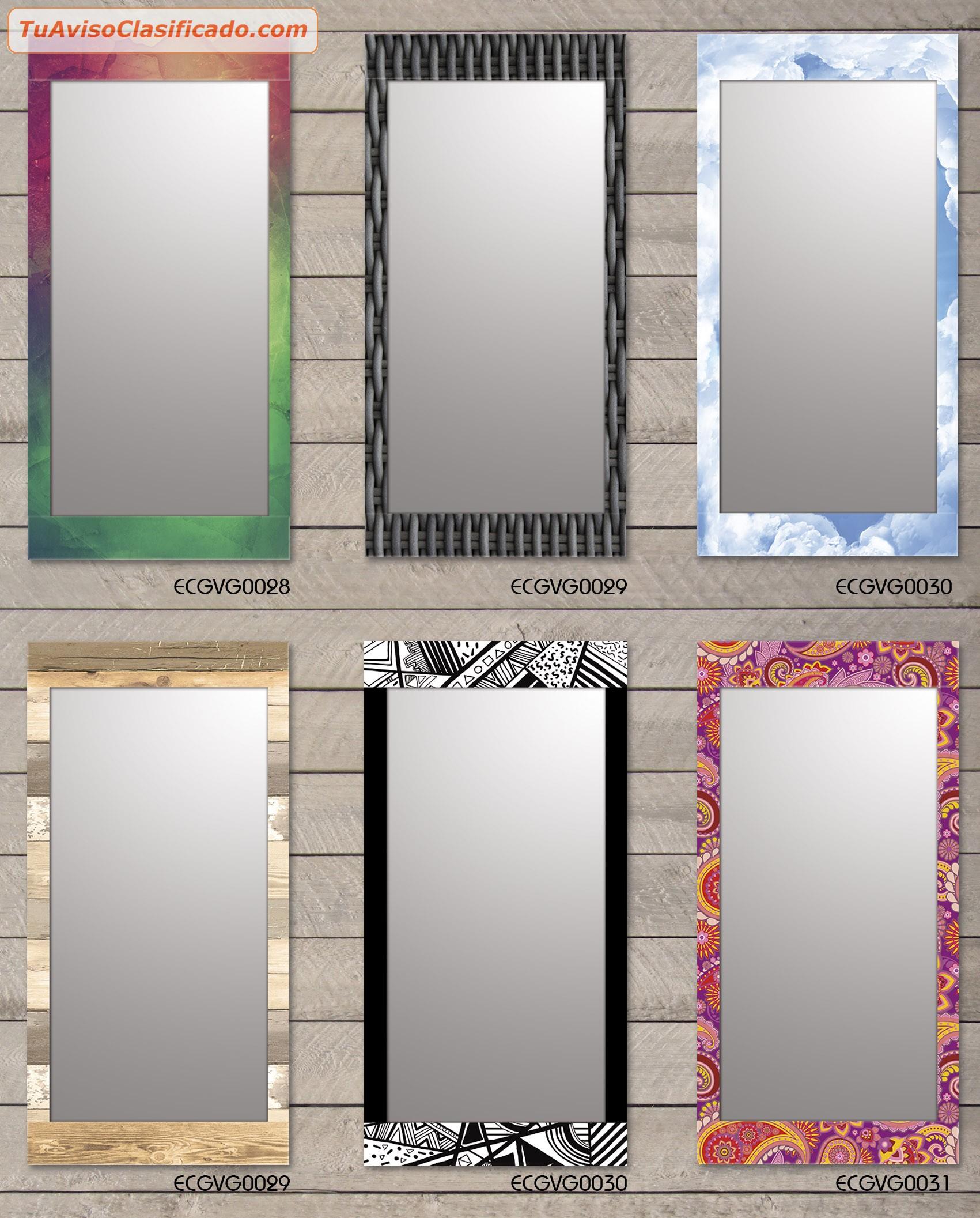 Espejos decorativos living ba o hogar 60x120 cm for Espejos para banos con guardas