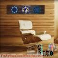 CUADRO MANDALAS RUSTIC DECO madera y vidrio EXCLUSIVOS! ElGlobo Deco