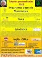 Tutorias 2015 (Matemática, Física, Estadística, Office e Inglés)