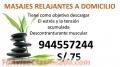 Masajes Relajantes a Domicilio S/.75