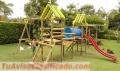 !! parques infantiles en madera- fibras rodaderos