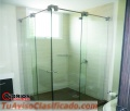 Divisiones para baño vidrio templado bogota