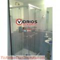 Division de baño en vidrio templado
