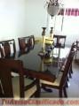 Juego de comedor en caoba de ocho sillas