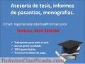 Desarrollo de tesis, informes de pasantias, monografias