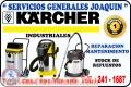 Servicio técnico reparación de aspiradoras  industriales =  KARCHER =  991-105-199