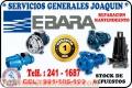 Tecnicos especializados de electrobombas  ♠ EBARA ♠ 991-105-199