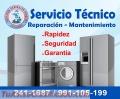 Reparación y mantenimiento de lavadoras, refrigeradoras,  cocinas   991-105-199