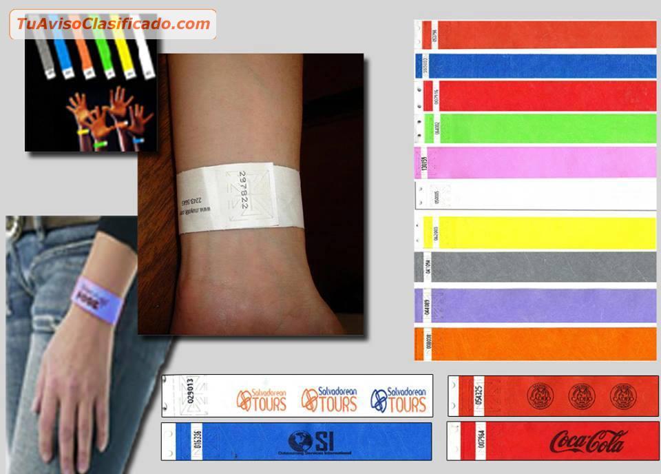 02af273799f2 Brazaletes pulseras de identificacion para eventos - Papel plastif...