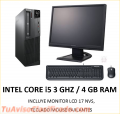 Core i5 3ghz 4 gb ram + monitor teclado mouse