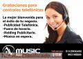 MENSAJE EN ESPERA PUBLICIDAD TELEFONICA GRABACIONES PARA CENTRALES-AVMUSIC PERU