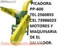 PICADORAS Y ENSILADORAS DE CAÑA DE AZUCAR Y PASTOS CON MOTORES DIESEL Y MOTORES GASOLINA