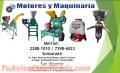 MOLINOS DE NIXTAMAL CON MOTOR. DESGRANADORAS DE MAIZ Y MAICILLO CON MOTORES DIESEL. MOTORE