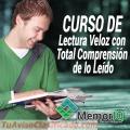 CURSO DE LECTURA VELOZ CON TOTAL COMPRENSIÓN DE LO LEÍDO