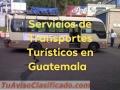 Servicios de Transportes Turisticos en Guatemala