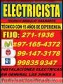 Electricista San Isidro Domicilio Garantia 991473178 - 971654372