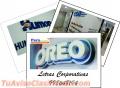 Letras corporativas / publicidad efectiva full color